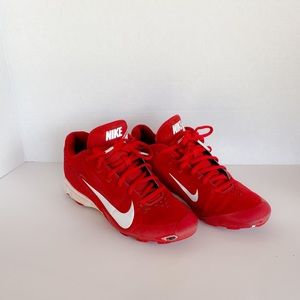 NIKE Vapor Keystone Low Baseball Cleats Red/White